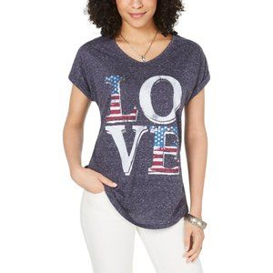 Style & Co. Love Graphic V-Neck T-Shirt